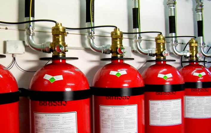 Bình chữa cháy khí và  phụ kiá»n