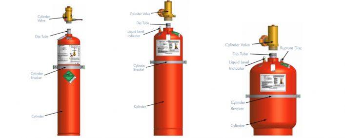 Cấu tạo bình chứa khí FM200