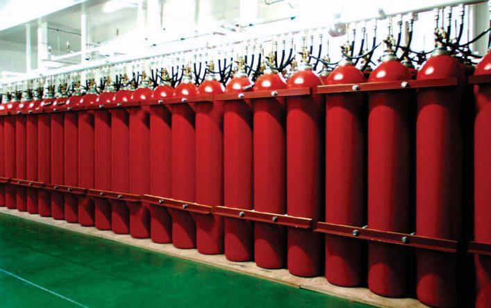 Phòng lưu trữ bình khí chữa cháy