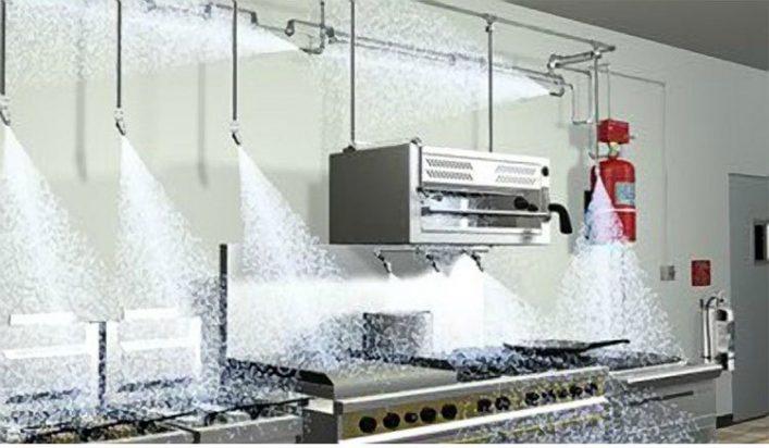 Chữa cháy nhà bếp bằng hóa chất chữa cháy