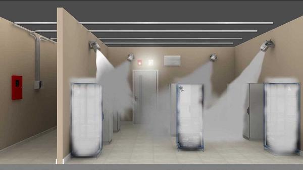Hệ thống chữa cháy khí Aerosol xả khí chữa cháy