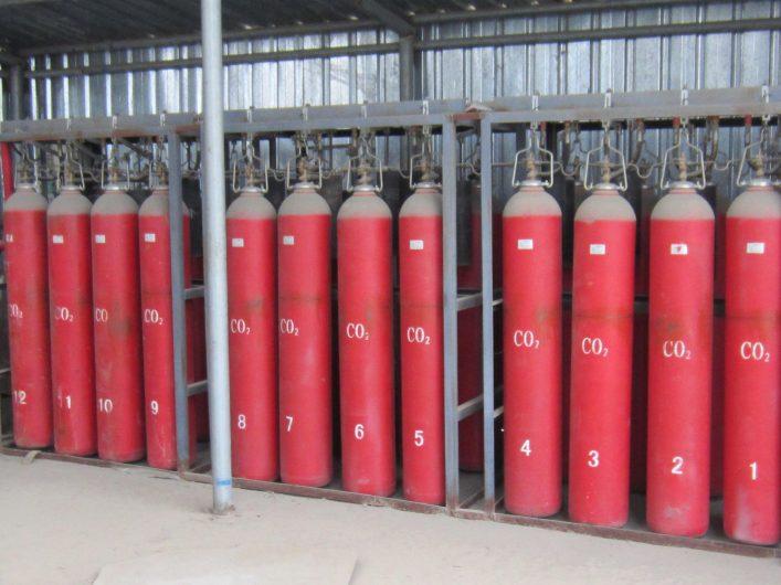Cụm bình chứa khí CO2 cố định