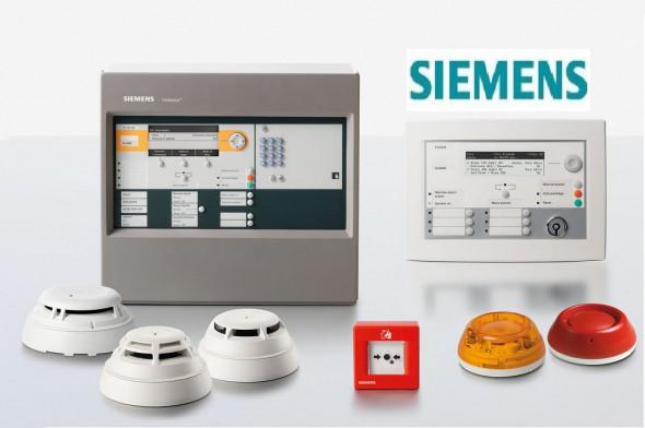Tủ trung tâm, đầu báo cháy, nút ấn báo cháy Siemens