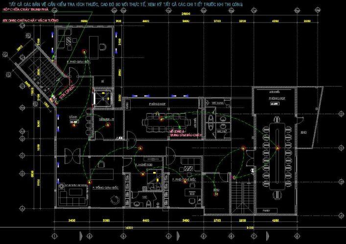 Bản vẽ thiết kế PCCC