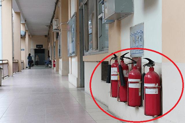 Bố trí, lắp đặt hệ thống bình chữa cháy xách tay